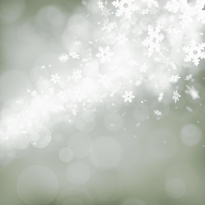 Fondo astratto con i fiocchi di neve fotografia stock libera da diritti