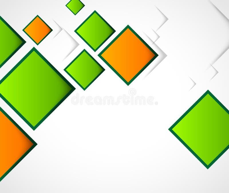 Fondo astratto con i quadrati illustrazione di stock