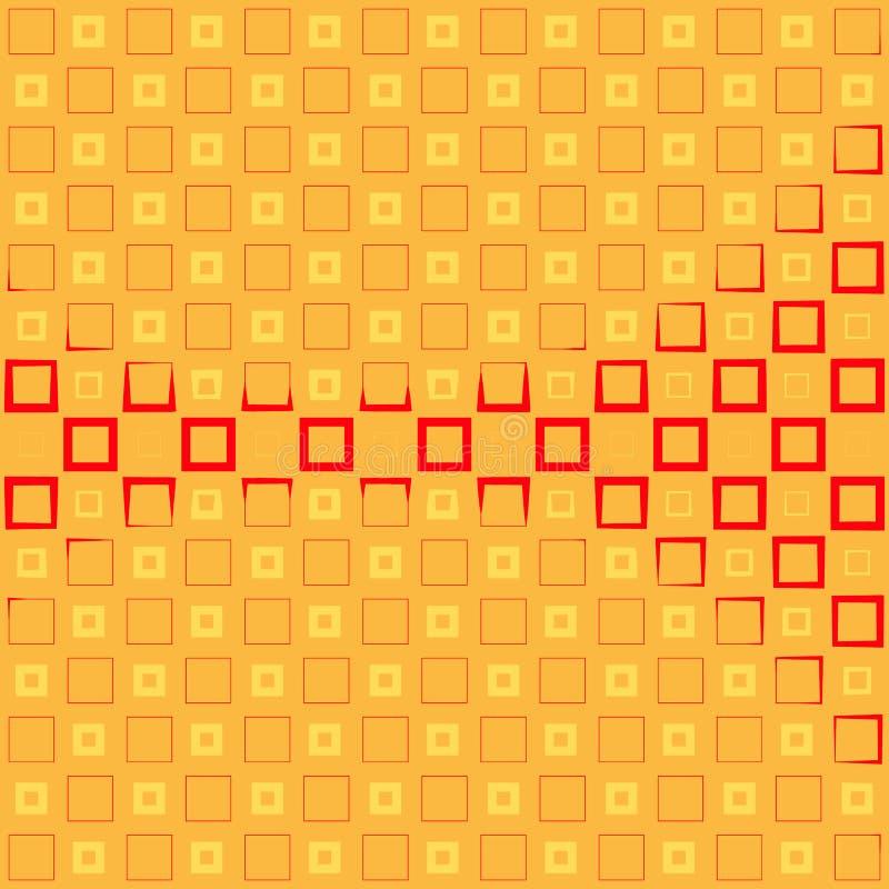 Fondo astratto con i quadrati variopinti e la pendenza ondulata di spessore illustrazione vettoriale
