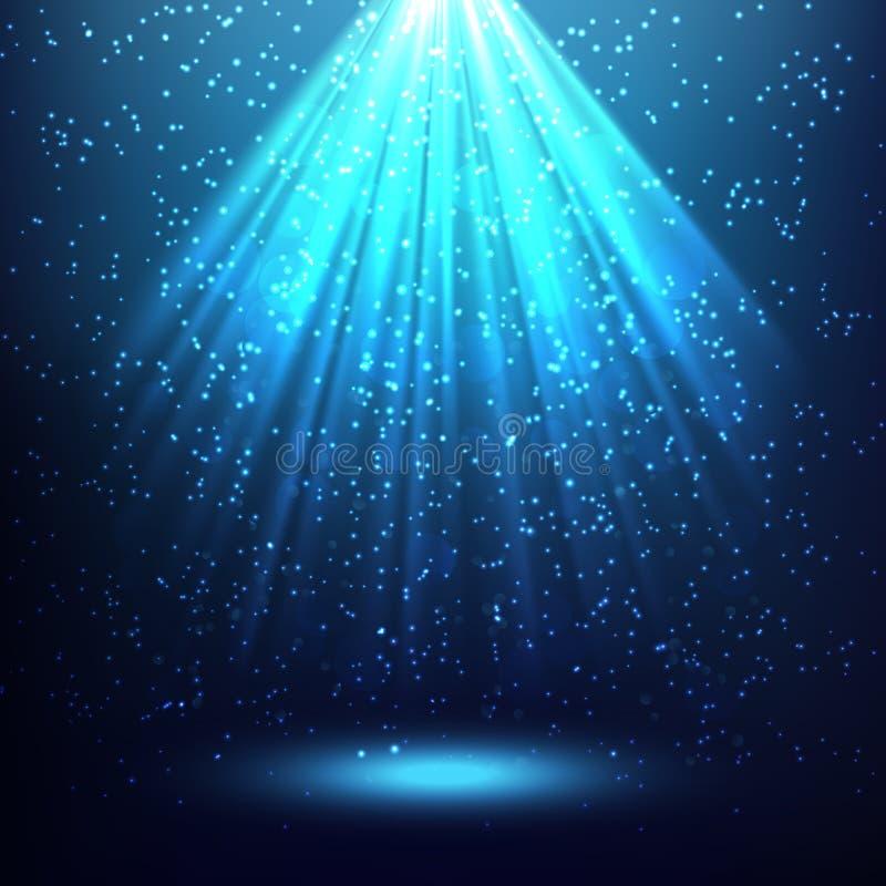 Fondo astratto con i raggi di luce illustrazione vettoriale