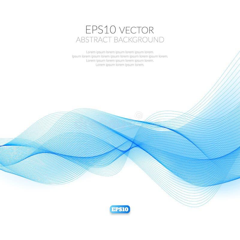 Fondo astratto con il modello geometrico delle linee Wave e distorsione delle forme Scivolata nell'aria illustrazione di stock