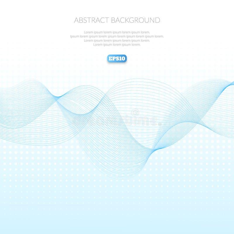 Fondo astratto con il modello geometrico delle linee Wave e distorsione delle forme Scivolata nell'aria royalty illustrazione gratis