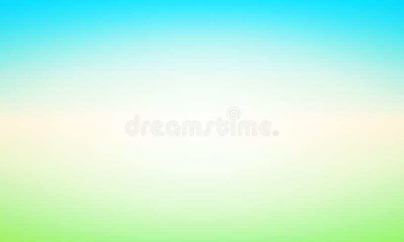 Fondo astratto con incandescenza e lustro - illustrazione di vettore con il paesaggio di Blured di chiaro giorno illustrazione di stock