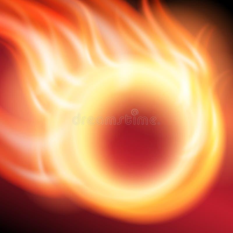Fondo astratto con l'anello di fuoco illustrazione di stock