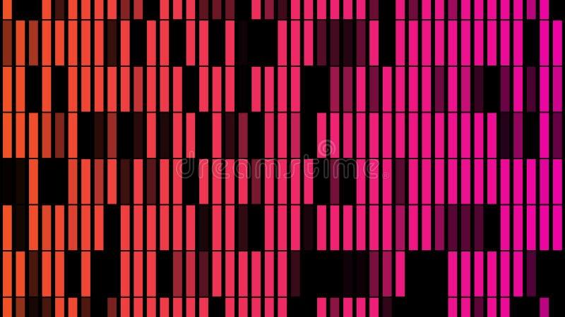 Fondo astratto con l'animazione delle particelle della luce intermittente illustrazione di stock