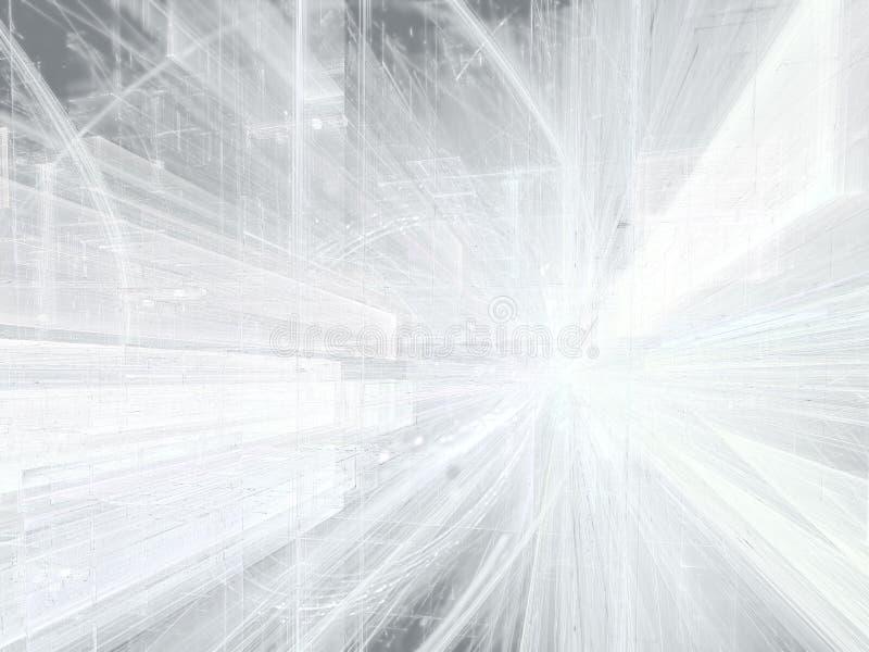 Fondo astratto con la prospettiva - digitalmente gene di tecnologia immagine stock