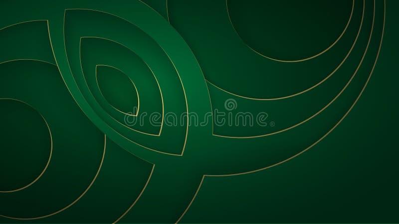 Fondo astratto con le forme del taglio del Libro Verde Illustrazione di vettore royalty illustrazione gratis