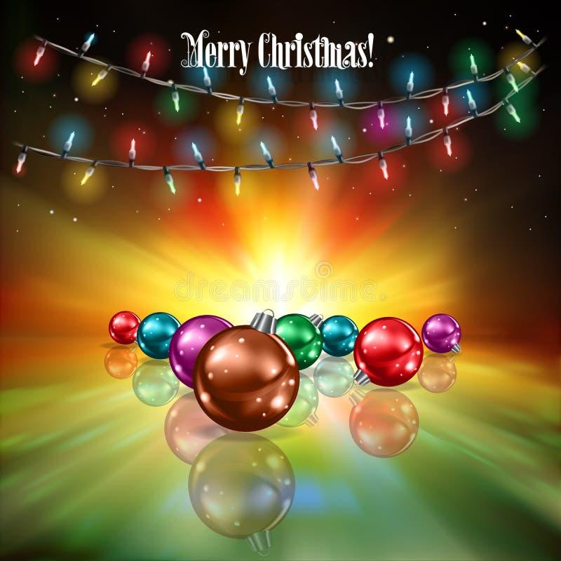 Fondo astratto con le luci di Natale royalty illustrazione gratis