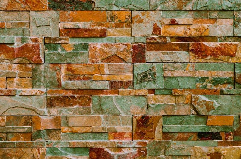 Fondo astratto con le mattonelle decorative variopinte fotografia stock libera da diritti