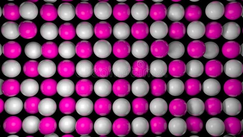 Fondo astratto con le sfere realistiche 3d Contesto variopinto illustrazione vettoriale