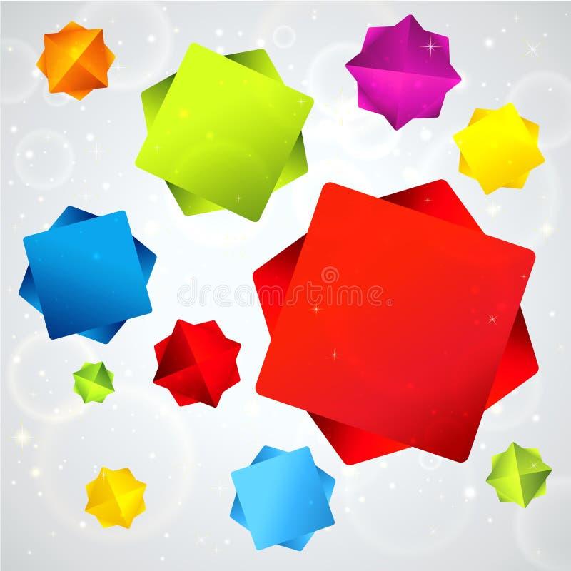 Fondo astratto con le stelle cadenti variopinte illustrazione vettoriale
