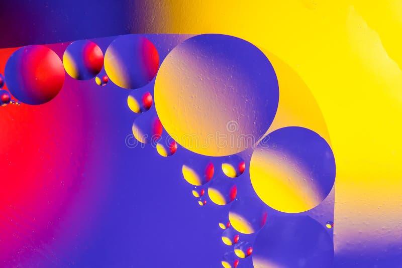 Fondo astratto cosmico dell'universo dei pianeti o dello spazio Sctructure astratto dell'atomo della molecola Bolle dell'acqua Ma fotografia stock