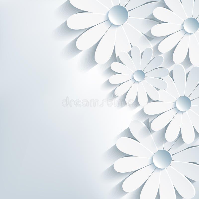 Fondo astratto creativo alla moda, 3d fiore ch illustrazione vettoriale