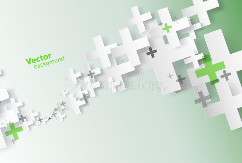 Fondo astratto creato con i segni più illustrazione vettoriale