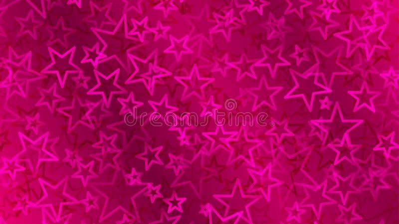 Fondo astratto cremisi di piccole stelle royalty illustrazione gratis