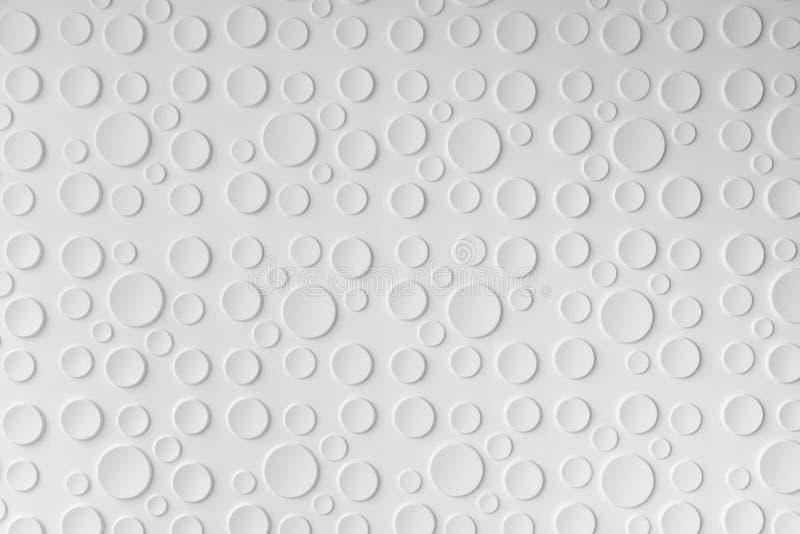 Fondo astratto da forma della goccia di acqua, decori del modello del cerchio fotografie stock libere da diritti