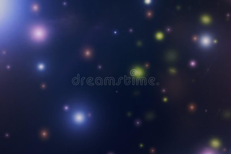 Fondo astratto dalla stella variopinta vaga in cielo notturno immagini stock libere da diritti