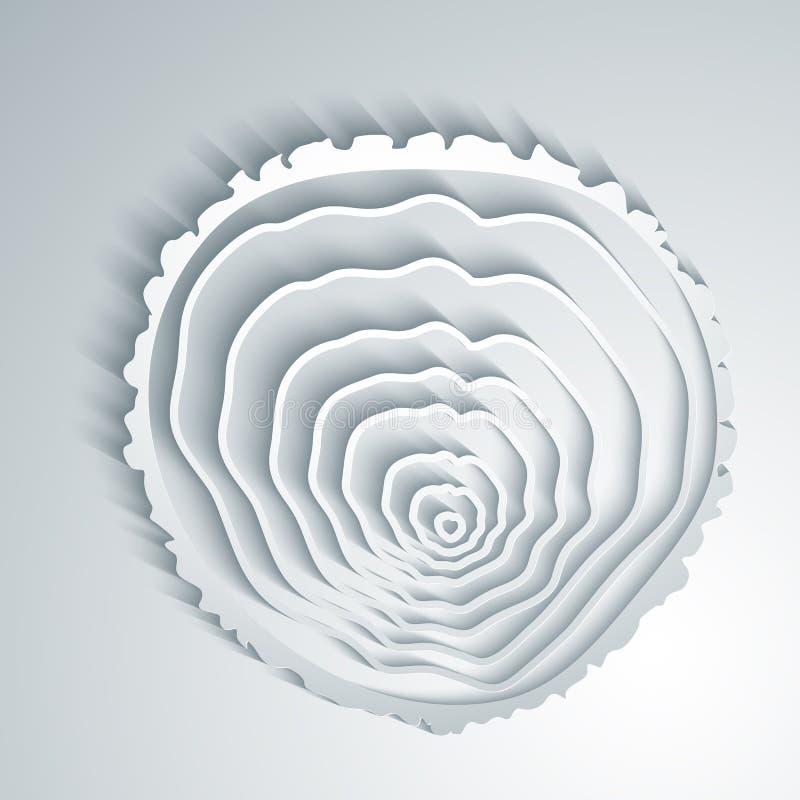 Fondo astratto degli anelli di albero illustrazione vettoriale