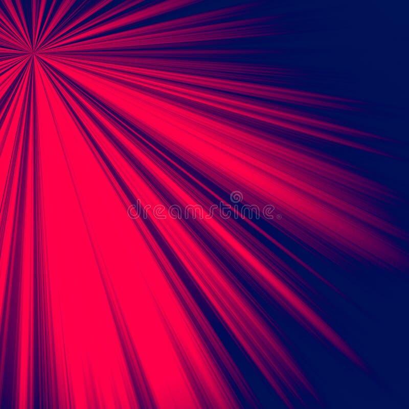 fondo astratto dei blu navy e di rosso per i media sociali illustrazione di stock