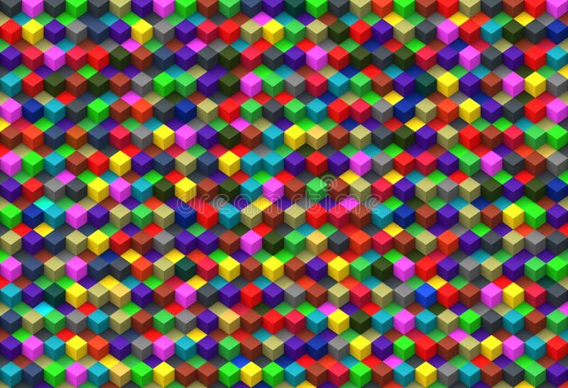 Fondo astratto dei cubi multicolori illustrazione vettoriale