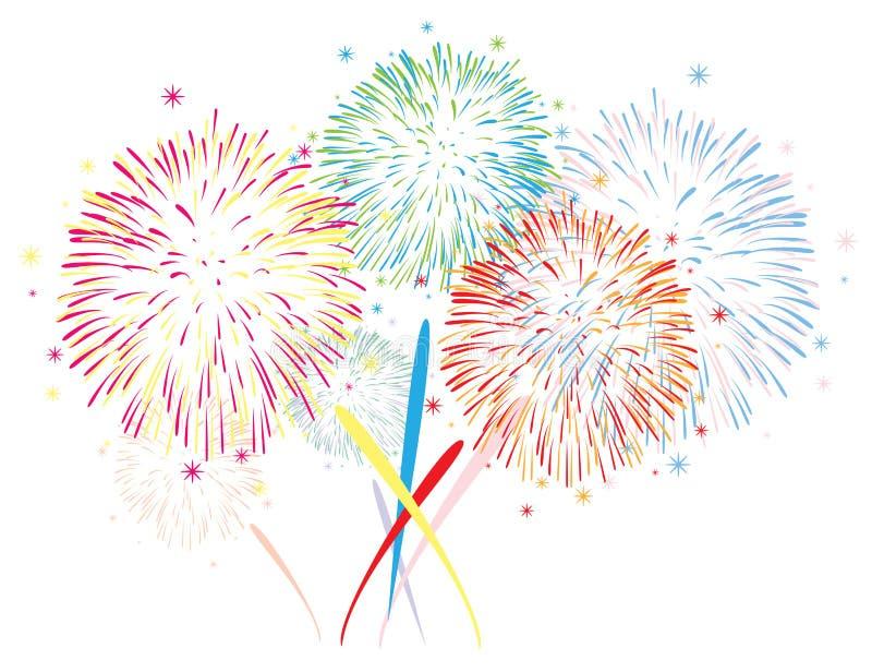 Fondo astratto dei fuochi d'artificio illustrazione di stock