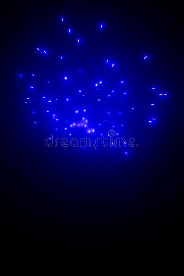 Fondo astratto dei fuochi d'artificio blu fotografia stock libera da diritti
