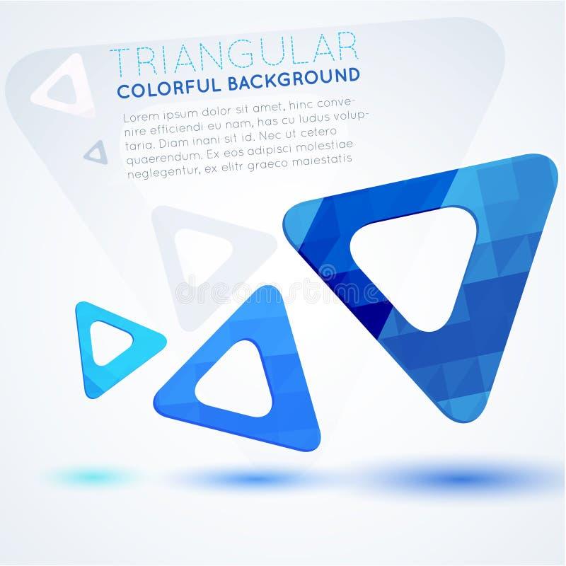Fondo astratto dei triangoli blu fotografie stock libere da diritti