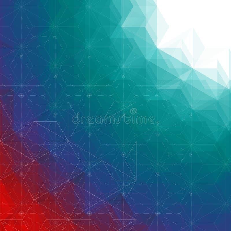 Fondo astratto dei triangoli del profilo illustrazione di stock