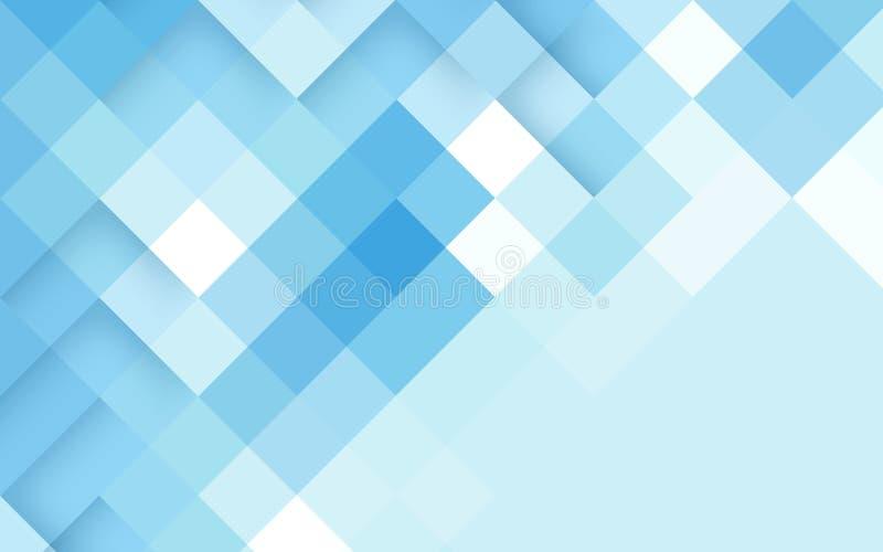 Fondo astratto del blu del rombo Vettore royalty illustrazione gratis