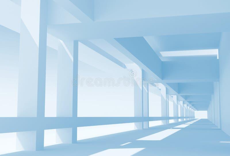 Fondo astratto del blu di architettura royalty illustrazione gratis