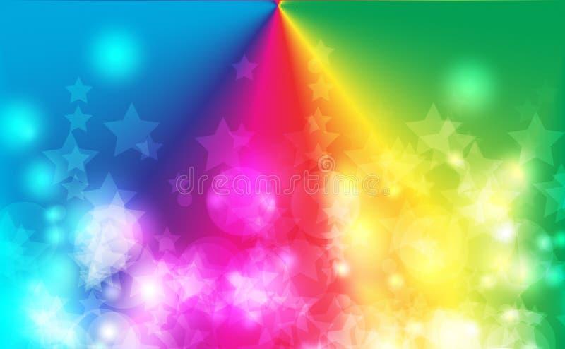 Fondo astratto del bokeh Luci defocused festive Illustrazione di vettore immagine stock libera da diritti
