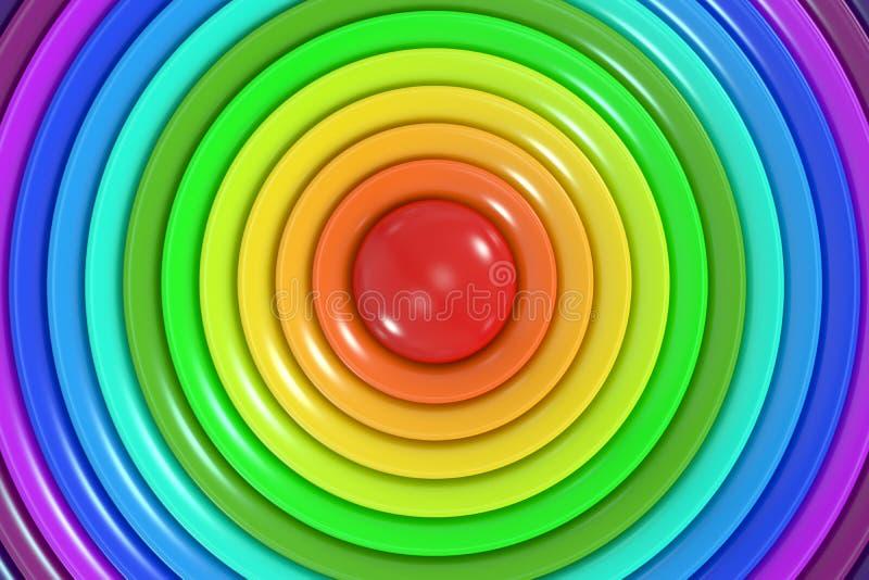 Fondo astratto del cerchio di colori dell'arcobaleno illustrazione vettoriale
