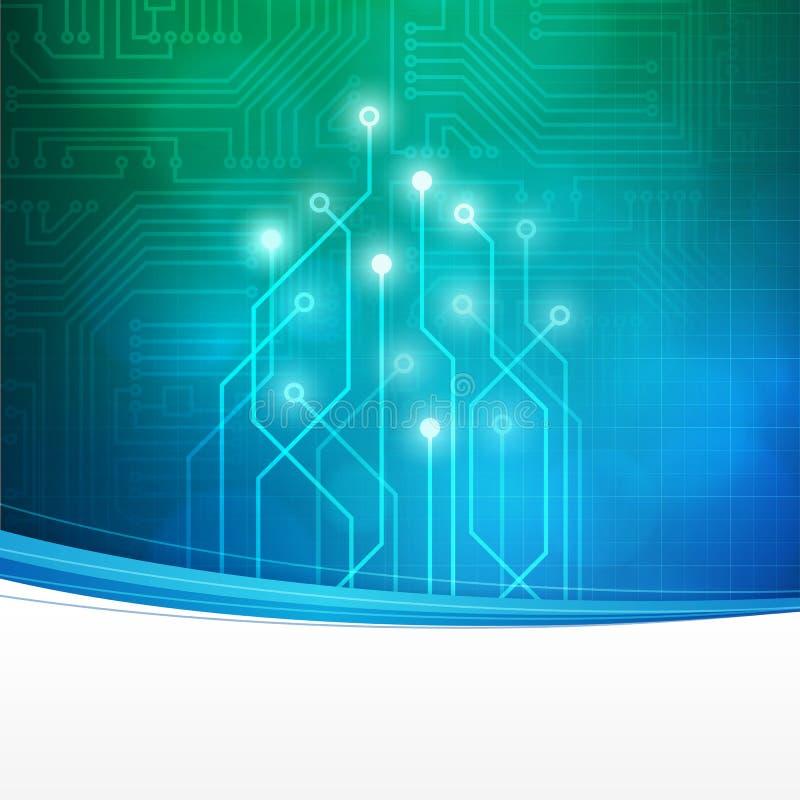 Fondo astratto del circuito di tecnologia illustrazione vettoriale