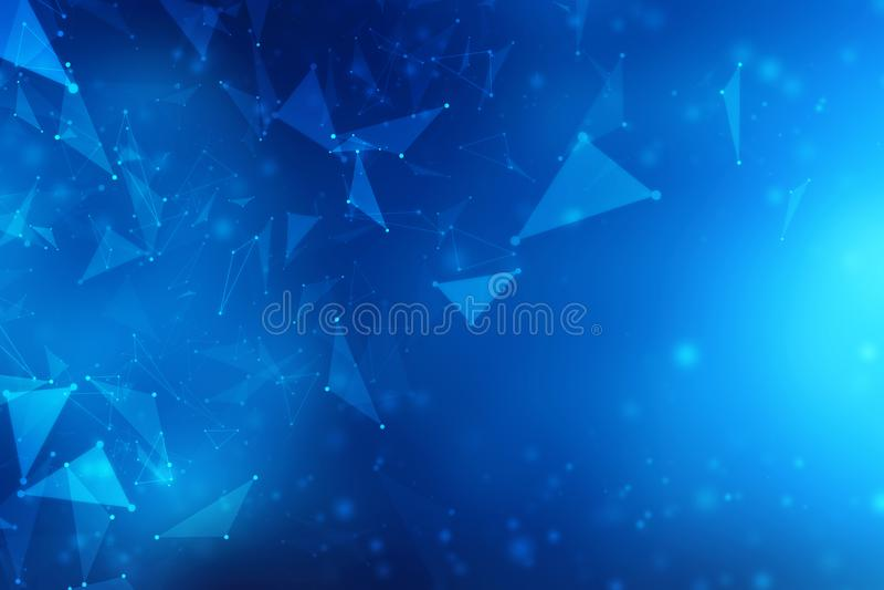 Fondo astratto del collegamento di rete globale, tecnologia di rete astratta del collegamento a Internet illustrazione vettoriale