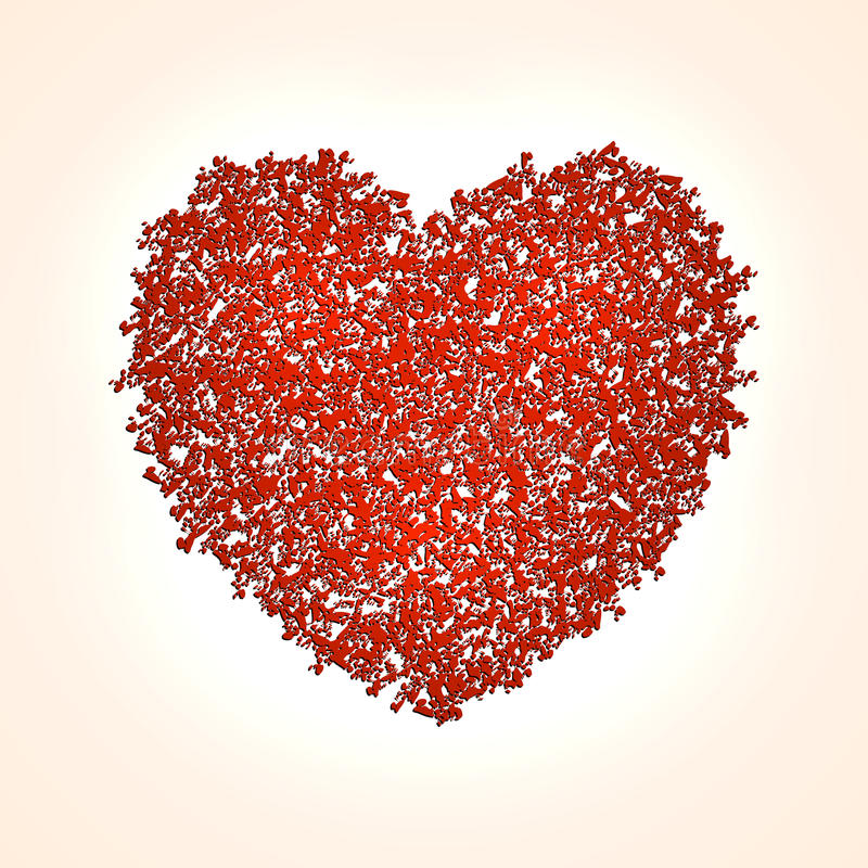 Fondo astratto del cuore di vettore per il biglietto di S. Valentino del san royalty illustrazione gratis
