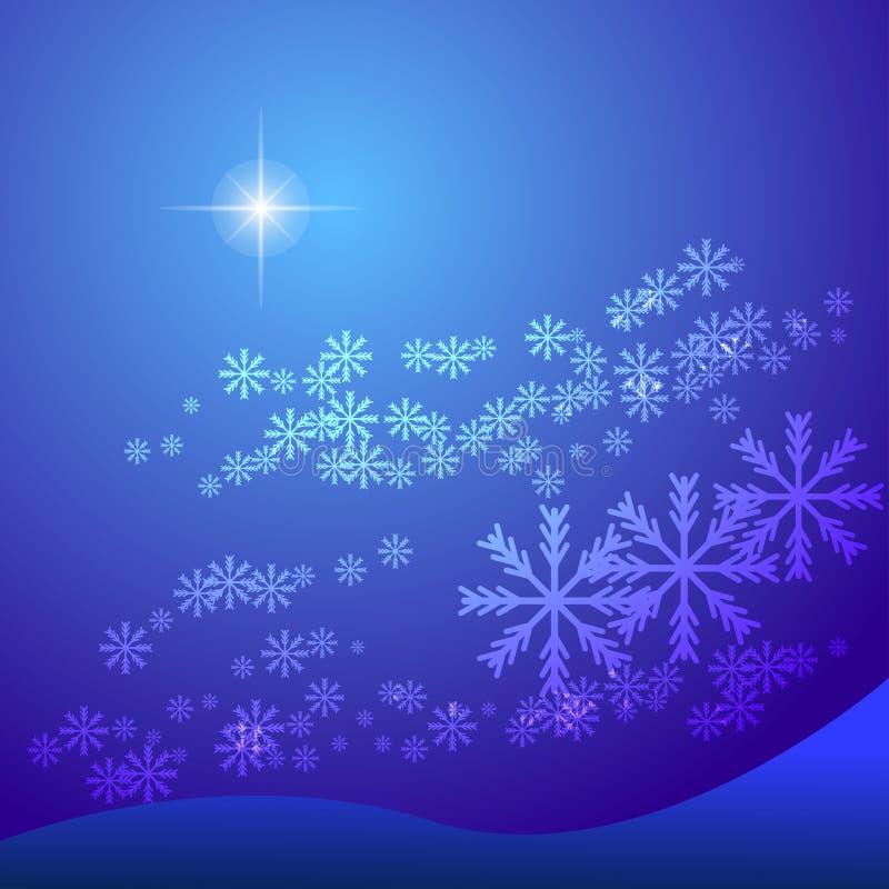 Fondo astratto del fiocco di neve illustrazione di stock