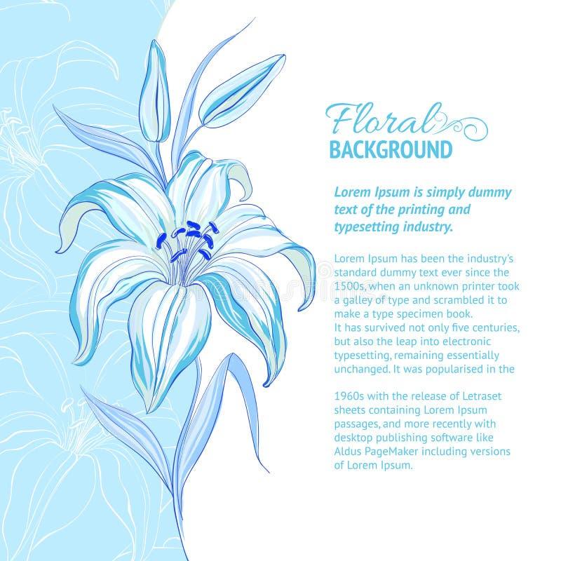 Fondo astratto del fiore royalty illustrazione gratis
