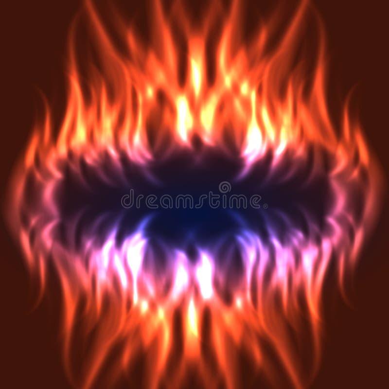 Fondo astratto del fuoco illustrazione di stock