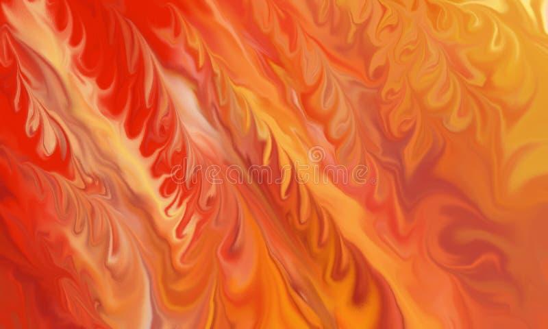 Fondo astratto del fuoco con le fiamme gialle ed arancio rosse ardenti nella progettazione astratta illustrazione vettoriale