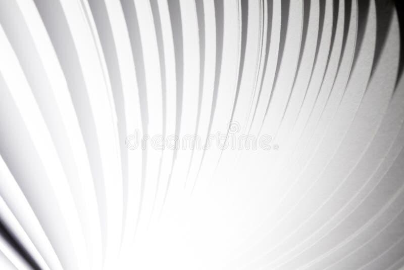Fondo astratto del libro di volo della pagina del Libro Bianco fotografie stock libere da diritti