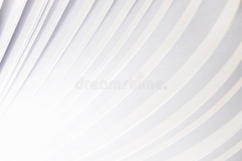 Fondo astratto del libro di volo della pagina del Libro Bianco immagine stock