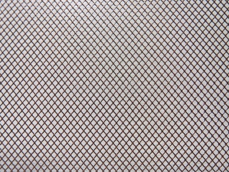 Fondo astratto del metallo, maglia con struttura fine fotografia stock