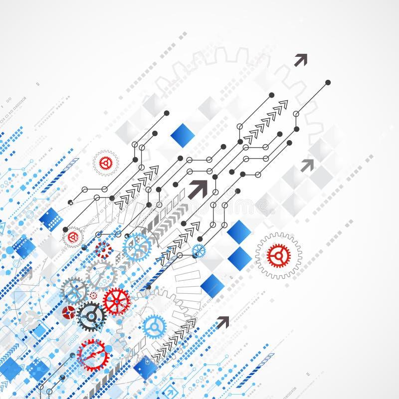 Fondo astratto del modello di affari di tecnologia illustrazione di stock