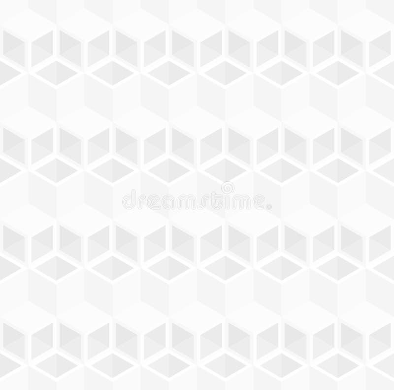 Fondo astratto del modello del tubo del cubo 3d illustrazione vettoriale