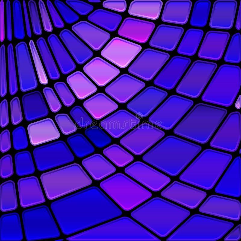 Fondo astratto del mosaico del vetro macchiato royalty illustrazione gratis