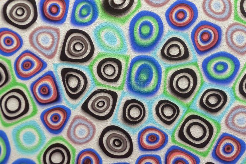 Fondo astratto del mosaico di vetro multicolore, modello della finestra del vetro macchiato fotografia stock