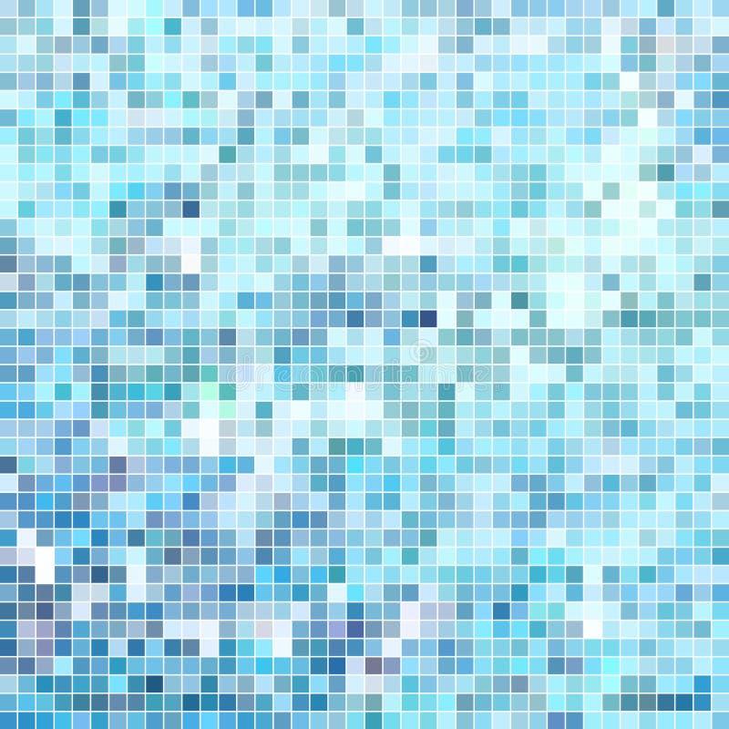 Fondo astratto del mosaico del pixel del quadrato di vettore illustrazione vettoriale