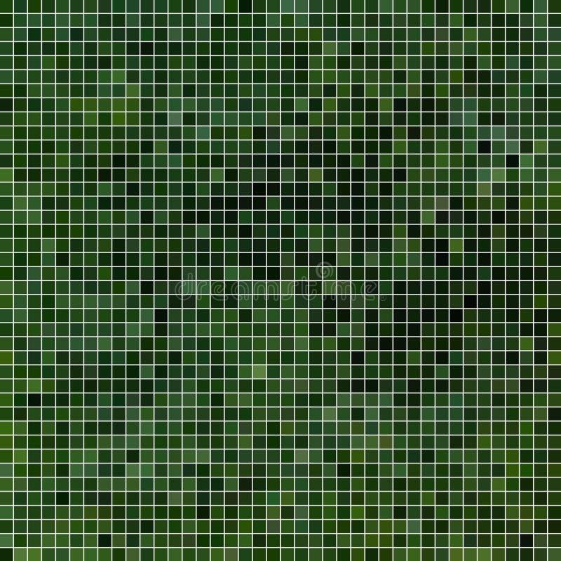 Fondo astratto del mosaico del pixel del quadrato di vettore royalty illustrazione gratis
