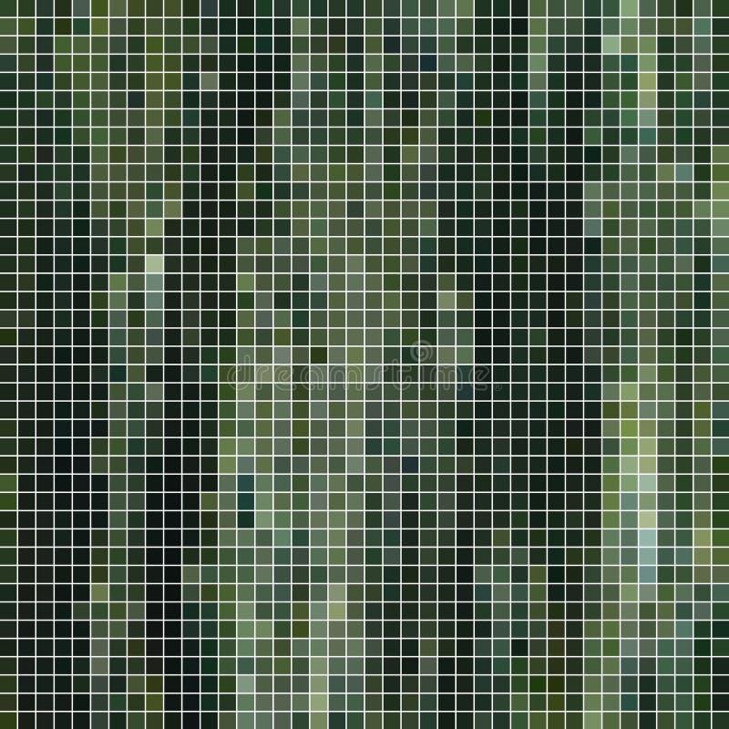 Fondo astratto del mosaico del pixel del quadrato di vettore illustrazione di stock