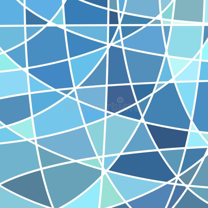Fondo astratto del mosaico del vetro macchiato illustrazione di stock